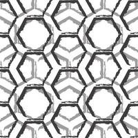 Seamless vector pattern of black and gray hexagons isolated on white background.