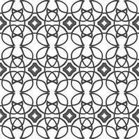 Celtic black ethnic vector pattern with wicker elements.