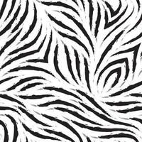 Vector zebra skin seamless pattern. Black and white zebra fur texture.