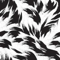 patrón transparente negro de líneas suaves de trazos de pintura. vector