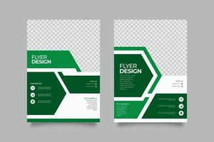 Webinar Green Flyer Template with Shapes vector