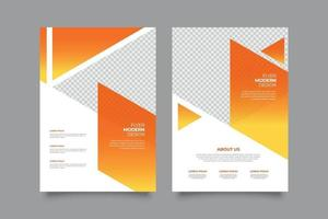 Webinar gradient flyer template with geometric shapes