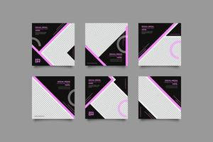 Black webinar business flyer template with geometric shapes