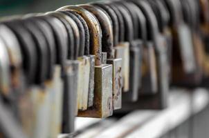 Row of old locks