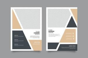 Plantilla de volante de seminario web minimalista con formas. vector