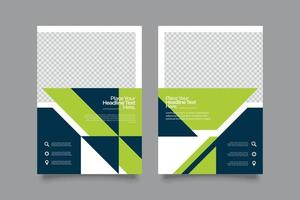 Green tone Flyer Template with Shapes
