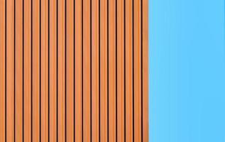 Orange wall against a blue sky photo