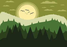 Mountains with forest landscape. Nature Background. vector