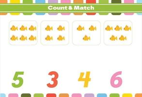 Counting game for preschool kids vector