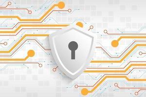 vector de fondo seguro sistema de seguridad digital.