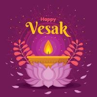 Happy Vesak Background vector