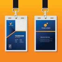 professional corporate id card template, clean id card design with realistic mockup vector