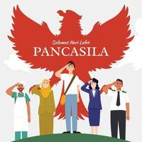 Happy Pancasila Day vector