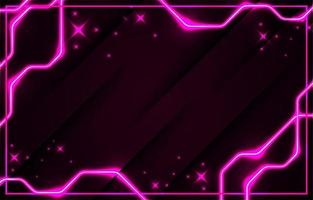 Modern Realistic Pink Neon Background vector