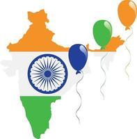 bandera del mapa de la india vector