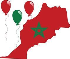 bandera del mapa de marruecos vector