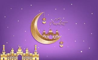 Eid Mubarak greeting Ramadan kareen vector Wishing for Islamic festival for banner, poster, background