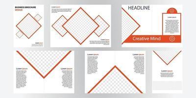 plantilla de diseño de folleto comercial. perfecto para folletos, promoción de marketing, presentaciones, etc. vector