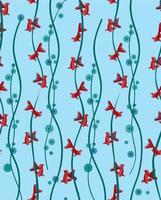 Fish seamless pattern. Golden fish underwater, marine ornamental textured background. vector