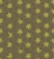 Floral seamless pattern. Flower background. Floral seamless texture with flowers. Flourish tiled yellow spring wallpaper vector
