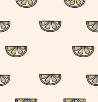 Slice of a orange seamless pattern vector