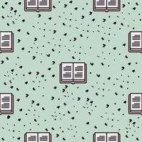 Book icon vector seamless pattern