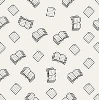 Doodle book vector seamless pattern
