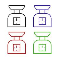 Kitchen Scale Icon On Background vector