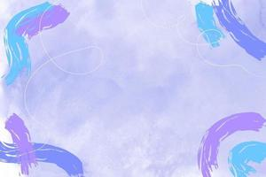 Blue watercolor background with pastel purple and blue abstract stains vector
