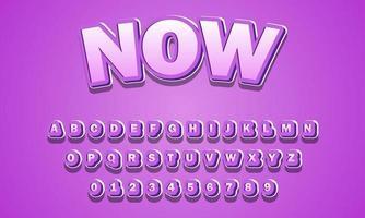 ahora alfabeto fuente vector