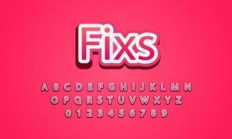 fixs font alphabet vector