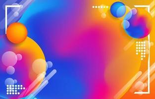 fondo colorido moderno abstracto vector