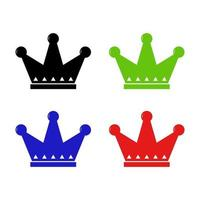 Crown Icon On Background vector