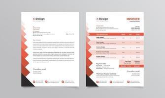 Corporate business letterhead template vector