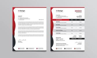 Corporate business branding identity or stationery letterhead and invoice template vector