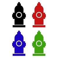 Hydrant Icon On Background vector