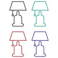 Bedside Lamp Icon On Background vector