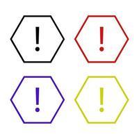 icono de señal de peligro en el fondo vector