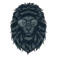 Lion Head with eyeglasses vector illustration