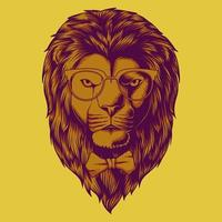 Hipster Lion head vector illustration