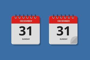 conjunto de ilustración de icono de calendario de día vector
