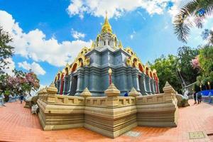 Chiang Rai, Thailand 2017- Wat Santikhiri historic landmark photo
