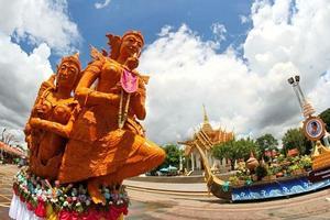 Ubon Ratchathani, Thailand 2014- Candle wax Festival photo