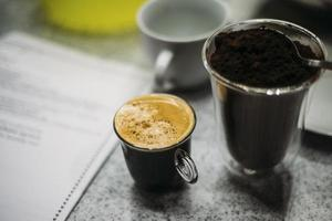 Cup of fresh espresso photo