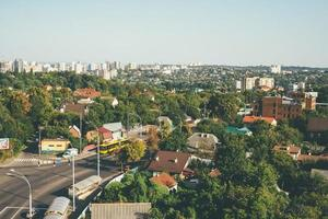Aerial view of a road in Kyiv photo
