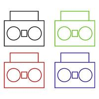 Stereo Icon On Background vector
