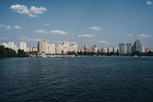 Cityscape from water photo