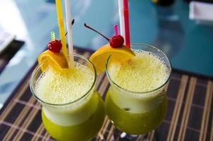 Two fruit drinks photo