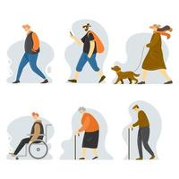 Set of General People Characters vector
