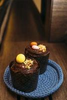 Chocolate Easter cupcakes photo